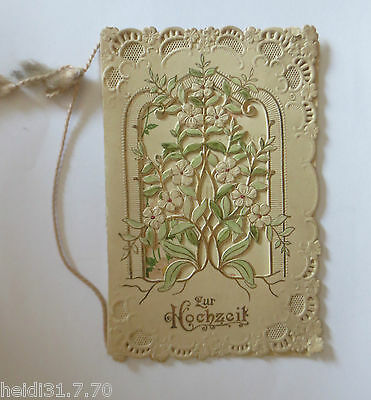 """Hochzeit, Jugendstil"" ca.1900, Klappkarte  ♥ (34747)"