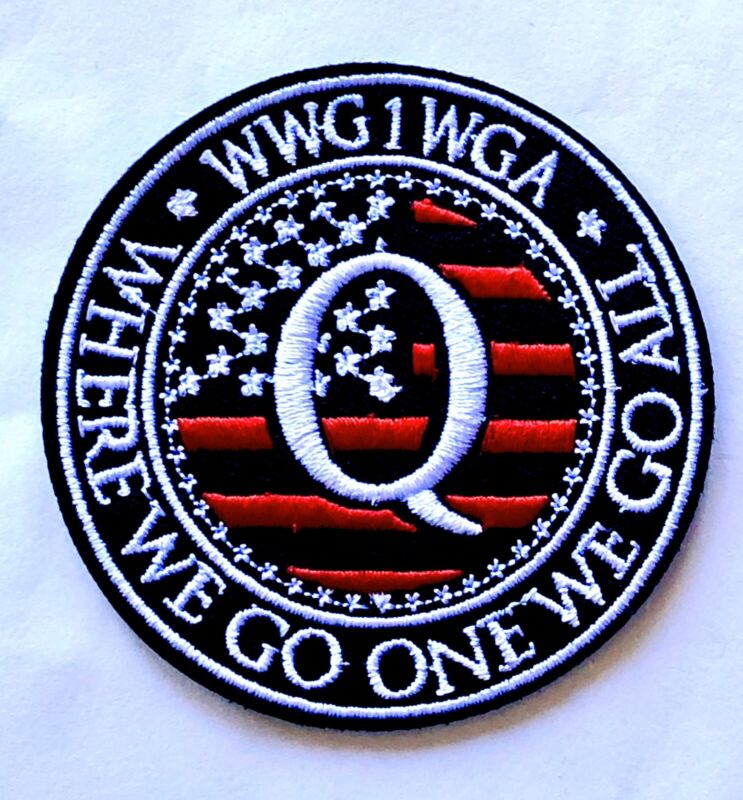 Q ANON WWG1WGA Patch Iron On WHERE WE GO ONE WE GO ALL Army Military Qanon Trump