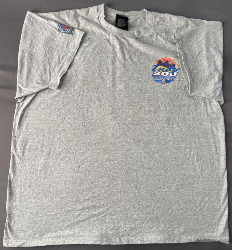 Vintage VTG Walt Disney Sports Gray Indy 200 January 24, 1998 Shirt. Size 2XL!