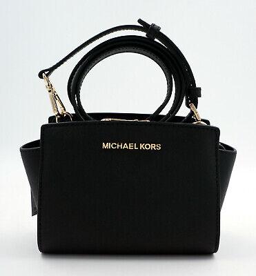 MICHAEL KORS Tasche Handtasche Selma Small Crossbody Saffiano Leder Schwarz,