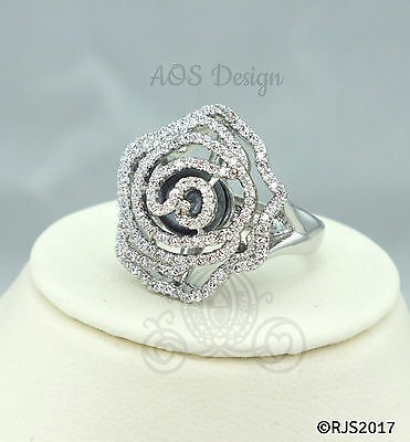 Crystal Rose Pearl Cage Flower Ring Silver Plated Locket Princess Belle Aurora  ()