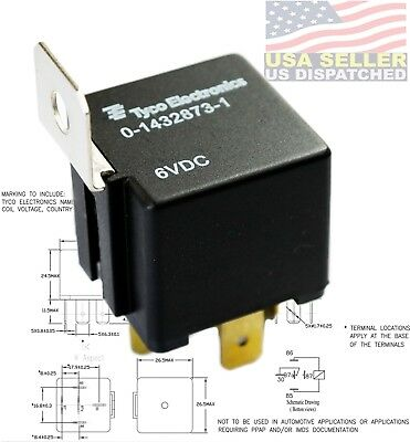 TE CONNECTIVITY P&B RELAY, 1 FORM C, SPDT, 6V DC - 1432873-1 AUTOMOTIVE (Automotive Bracket)