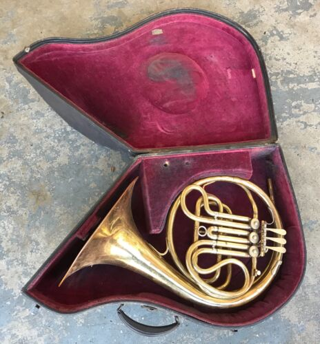 1929 Pan-American French Horn w/ Holton Case. Model 30D. Vintage. Working.