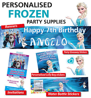 Personalised Frozen Birthday Party Banners and Decorations ()