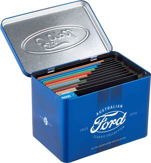 Ford Classic 12 coins with tin and Stamp Collection