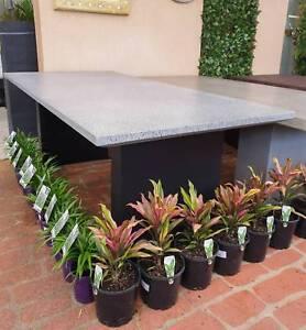 Outdoor Garden Dining Patio Furniture Rectangle Table Terrazzo