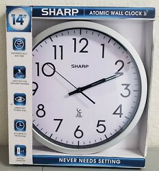 Sharp Atomic Analog Wall Clock