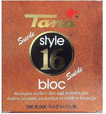 TANA Suede Nubuck Cleaning Bar Block mark remover Shoe Stain Eraser MADE GERMANY