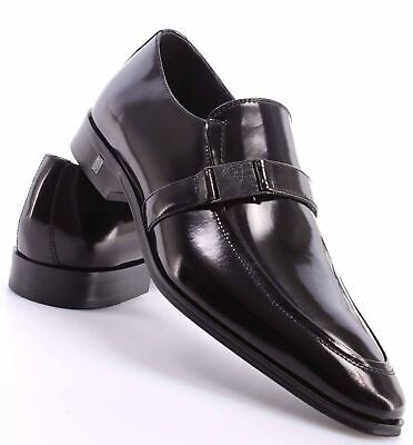 Versace Collection Men's Leather Oxford Shoe, Black, 41 EU/ 8 US