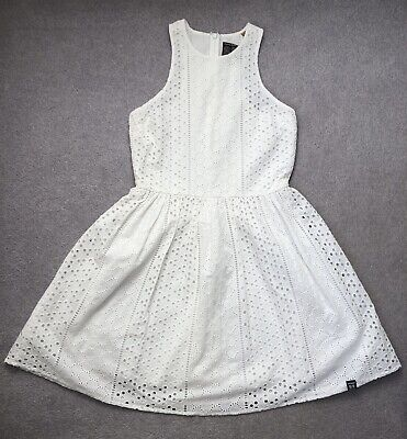 Girls Superdry Broderie Anglaise Racer Back Dress XS