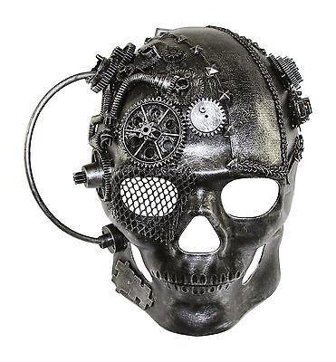 Full Face Skull The Terminator Steampunk Mask Hand Made Masquerade Mask NEW - Full Face Masquerade Masks