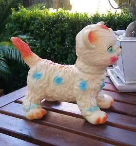 Vintage Plastic Cat Kitten Squeak Toy