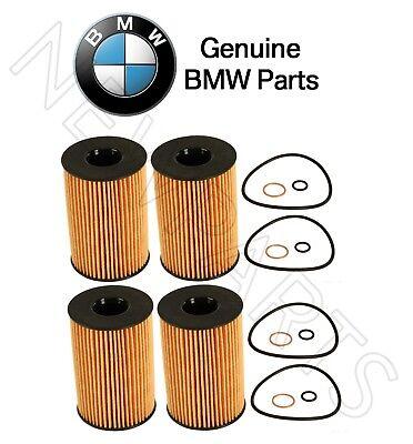For BMW F01 750i F02 F10 GENUINE Set of 4 Engine Oil Filter Kits 11427583220