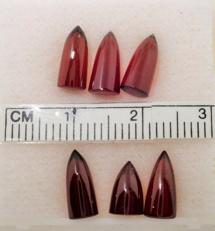 Garnet Natural Bullet shape Cabochons 12.45cts AAA+ Top Quality Designers Dream