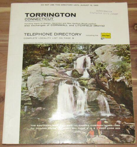 1965 TORRINGTON CONNECTICUT TELEPHONE DIRECTORY, GOSHEN, HARWINTON