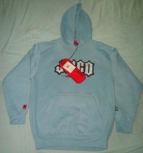 VTG JNCO LOS ANGELES HOODIE MEDIUM SWEATSHIRT HOODED BLUE SKATE BIG LOGO CROWN