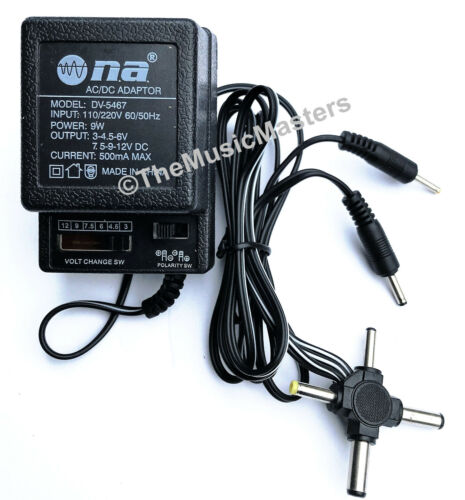 Universal AC to DC Power Supply Wall Plug Adapter 3V 4.5V 6V 7.5V 9V 12V 500mA