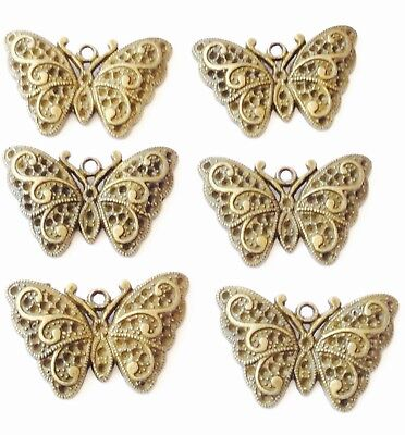 Antique Gold Elegant Butterfly Animal Charms- Beading Supplies