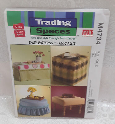 TRADING SPACES BY McCALL'S - 4  OTTOMAN PATTERNS - NEW