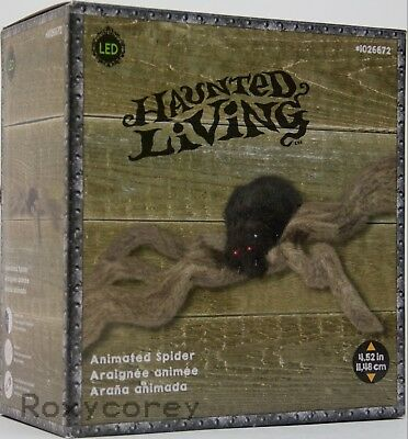 Halloween Gemmy 4.52 in Animated Shaking Furry Brown Spider NIB (Animated Halloween Spider)