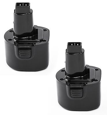 Pwr+® 2х 9.6v Battery For Black & Decker Ps120 Fire Storm...