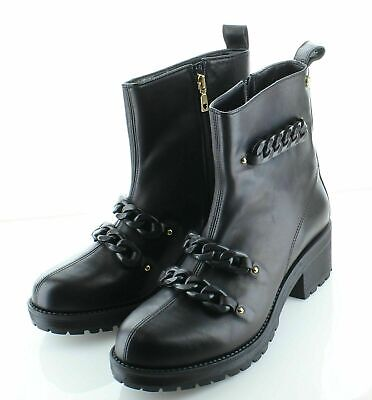 P42 $290 NEW Womens Size 41 Moschino Love Ankle boot in black
