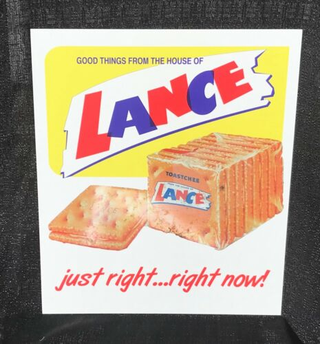REPLACEMENT LANCE DISPLAY ADVERTISING SIGN (4 JAR) RACK, COUNTRY / GENERAL STORE