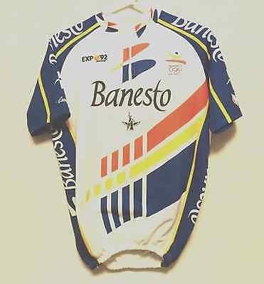 0bac95ef6 Banesto Expo 92 Nalini Campagnolo Cycling Jersey Barcelona 92 Vintage Size 4