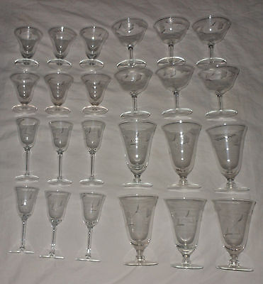 Crystal Stemware Set Wine Goblet Cordial Champagne Sherbet Iced Tea Lot - Iced Tea Liqueur