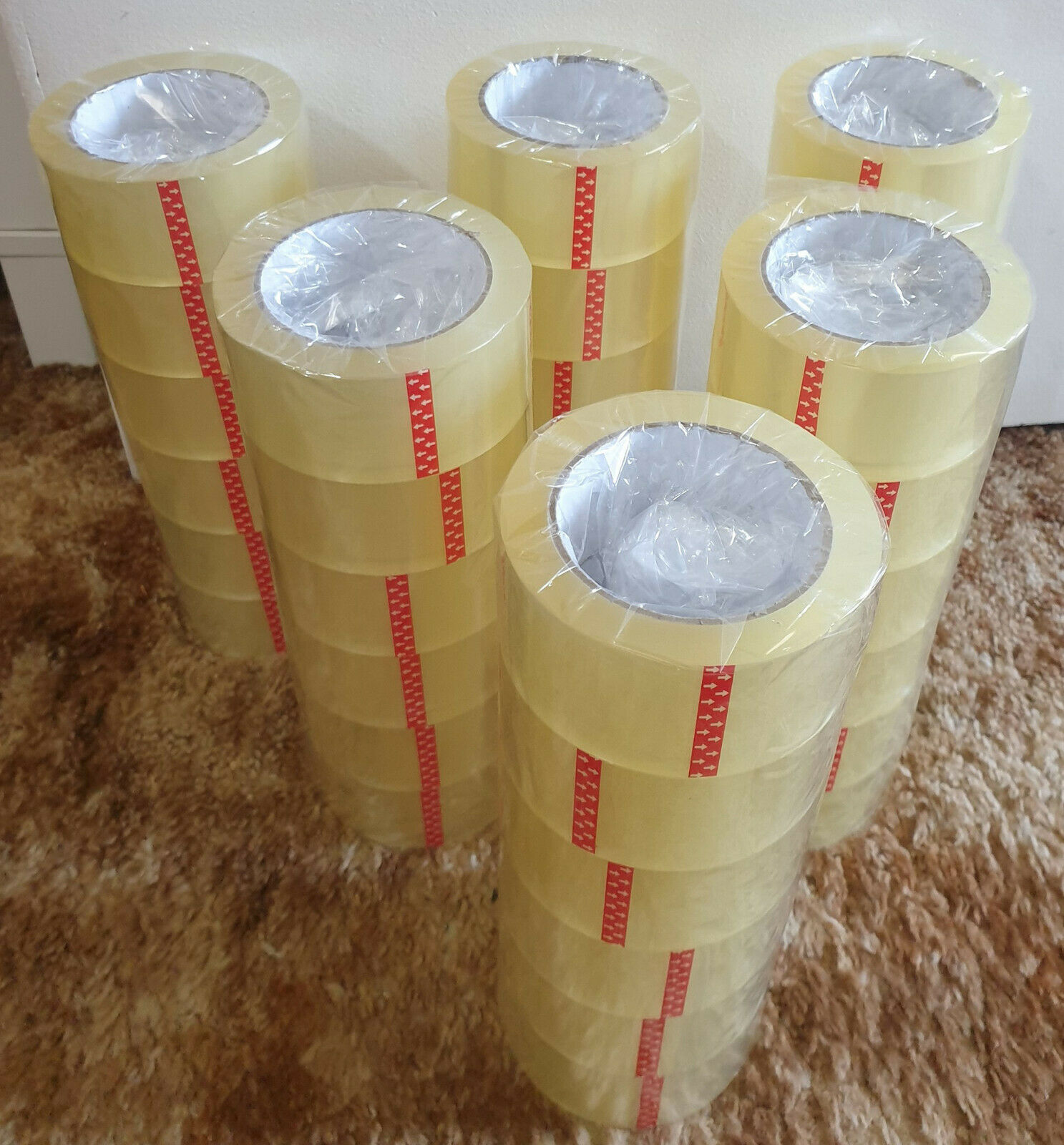 36 ROLLS Clear Packing Tape - 2 INCH x 110 Yards  Carton Sea