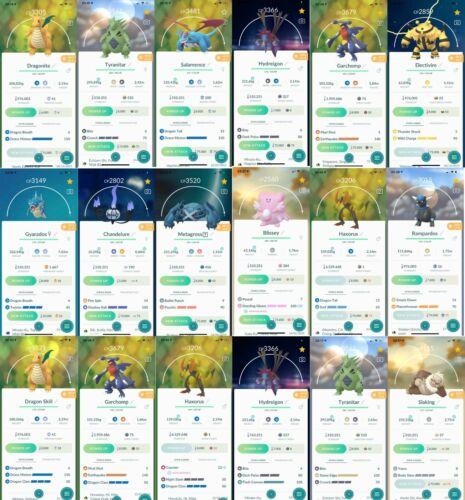 Pokemon TRADE Go Greninja, Delphox, Chesnaught Haxorus,Garchomp, Noivern High CP