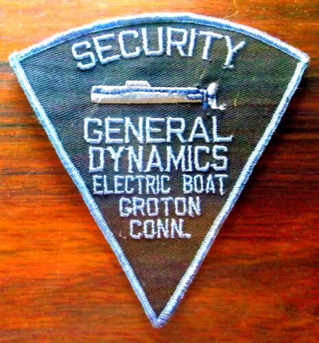 GEMSCO NOS Vintage Patch - SECURITY GENERAL DYNAMICS EB GROTON CT 55+ year old