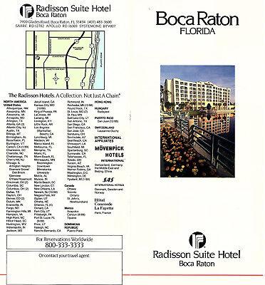 Radisson Suite Hotel Boca Raton Florida Travel Brochure Color Photos Locator Map Boca Raton Florida Map