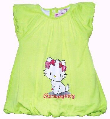 Neu! Charmmy Kitty Ballonkleid Kleid Tunika Viskose hellgrün 80