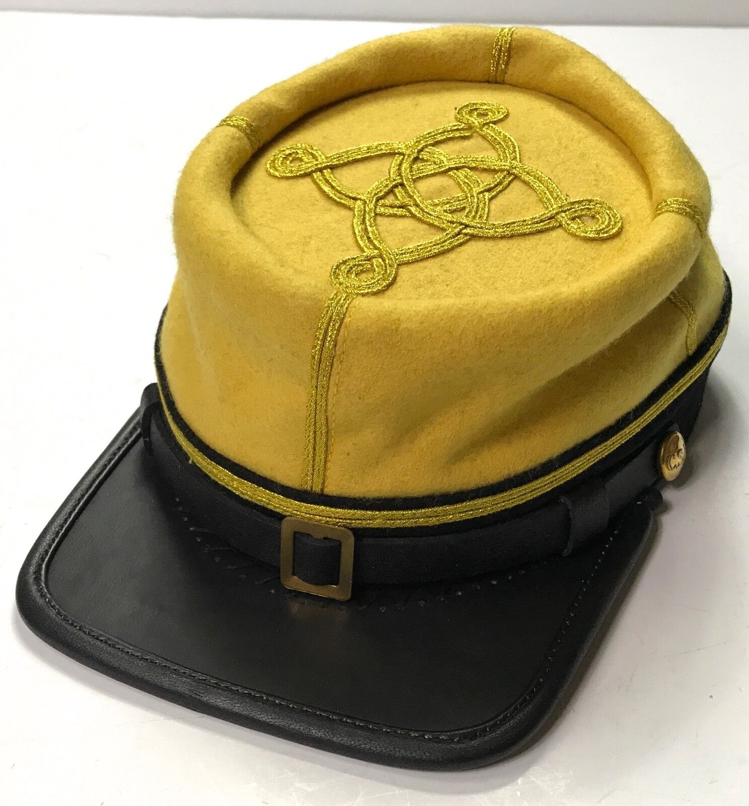 CIVIL WAR CONFEDERATE CSA COLONEL MAJOR INFANTRY OFFICER KEPI FORAGE CAP-LARGE