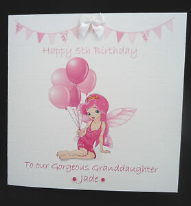 PERSONALISED-FAIRY-PRINCESS-Birthday-Card-1st-2nd-3rd-4th-5th-6th-7th-8th-etc