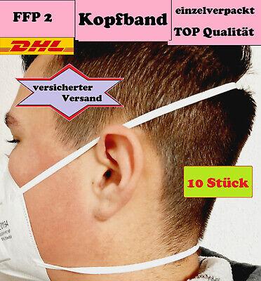 FFP2 Mundschutz Atemschutz-Maske FFP 2 CE 0149 zertifiziert Kopfband