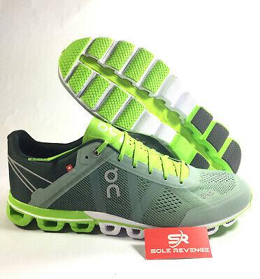 New Men's ON CLOUD Cloudflow in Moss/Lime Green Running Shoes 1599991  Lime Green Running Shoes