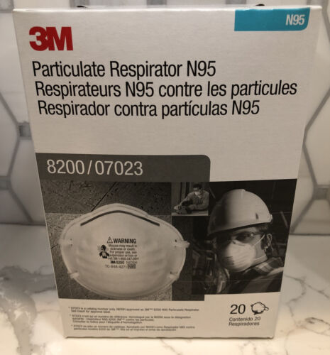Owner 3 M Pack of 20 New Protective Mask N Grade 95 Never Opened 2025 Expiration