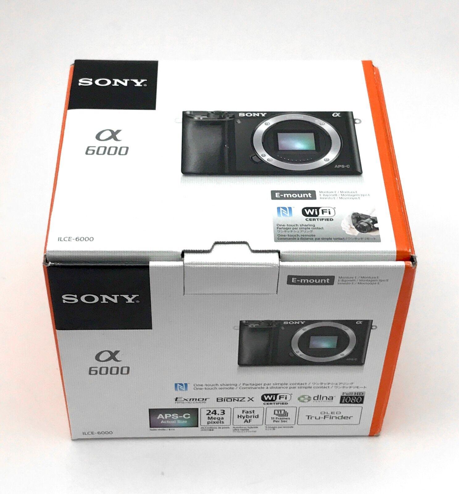 Sony Alpha a6000 Mirrorless Digital Camera Body MINT- Black, Printed Manual