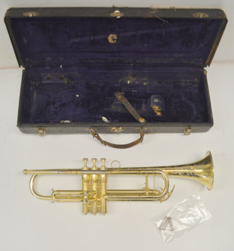 MARTIN HANDCRAFT DANSANT Bb TRUMPET - GOLD PLATED, MADE IN ELKHART INDIANA