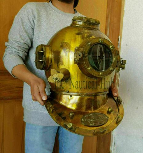 Antique Deep Sea Morse Divers Diving Helmet Scuba Boston Divers Navy Boston Gift