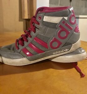 Adidas high tops barely worn, too small :(
