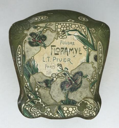 Antique L.T. Piver Floramye Perfume Powder and Carboard Box Art Nouveau Blanche