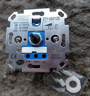 Universal-Dimmer LED eTrafo Glühlampe f.Gira,Jung,Busch-Jäger,Merten 4+6mm Welle