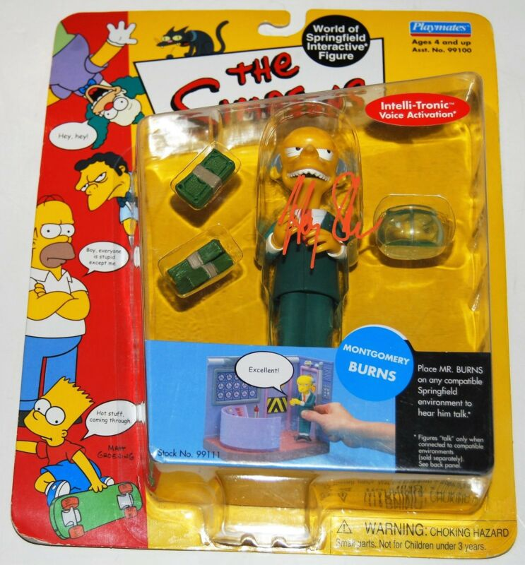 HARRY SHEARER signed (THE SIMPSONS) *MONTGOMERY BURNS* Toy Figure W/COA