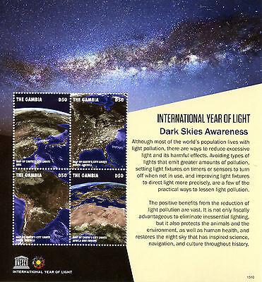 Gambia 2015 MNH UNESCO Int Year of Light Dark Skies Awareness 4v M/S Stamps