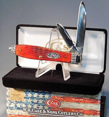 Case XX Tony Bose Dark Red Tear Drop Jack Knife Worked Bolsters~ NEW