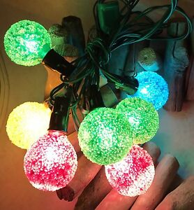 Vintage lighted ice strand Christmas lights