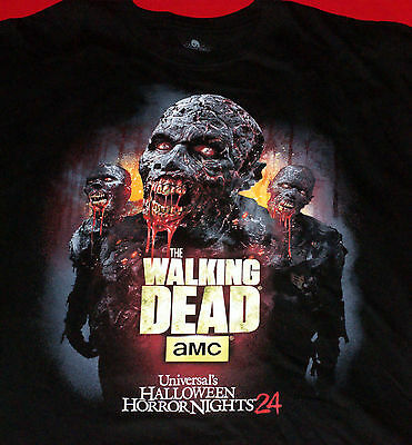 UNIVERSAL HALLOWEEN HORROR NIGHTS 24 THE WALKING DEAD T-SHIRT XL
